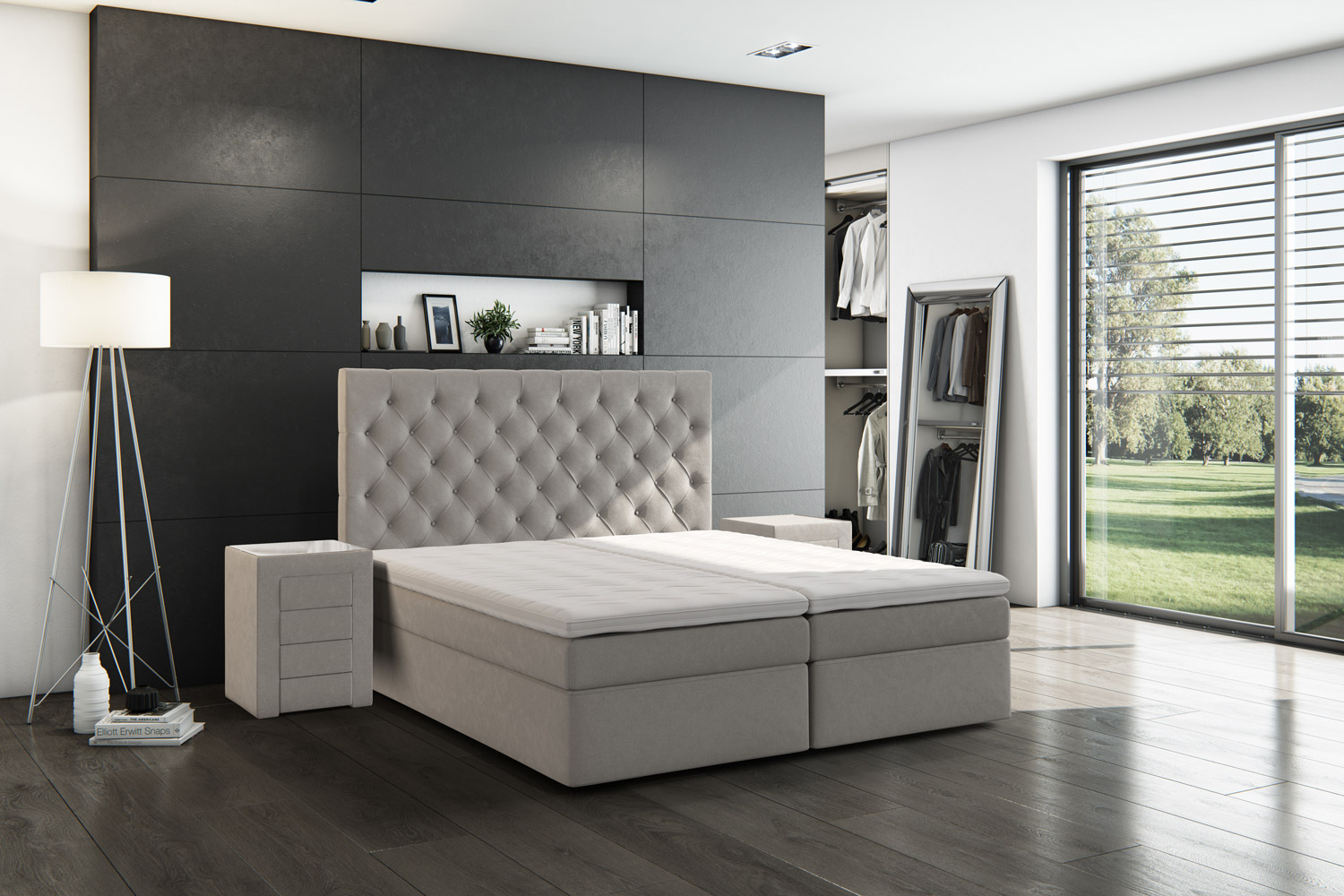bettwaren borghoff brinkhaus boxspringbett samnaun 200x200 cm. Black Bedroom Furniture Sets. Home Design Ideas