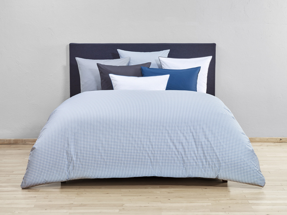 bettwaren borghoff christian fischbacher bettw sche vichy blau. Black Bedroom Furniture Sets. Home Design Ideas