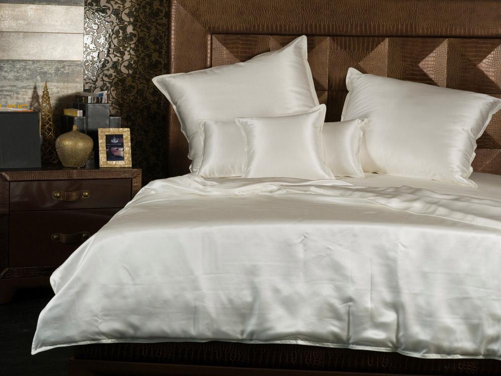 bettwaren borghoff sichou seiden bettw sche satin white. Black Bedroom Furniture Sets. Home Design Ideas